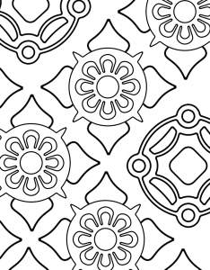 Free coloring pages large mandala